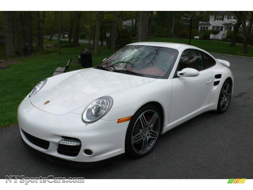 2009 porsche 911 turbo coupe in carrara white 766152. Black Bedroom Furniture Sets. Home Design Ideas