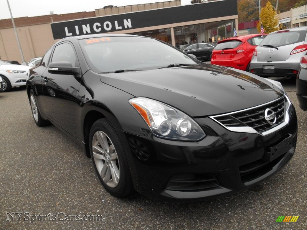 2011 nissan altima 2 5 s coupe in super black 109200. Black Bedroom Furniture Sets. Home Design Ideas
