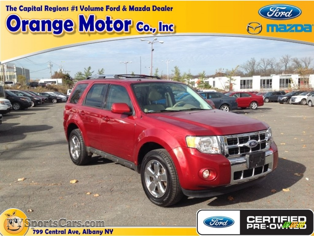 2012 ford escape limited v6 4wd in toreador red metallic for Orange motors albany new york