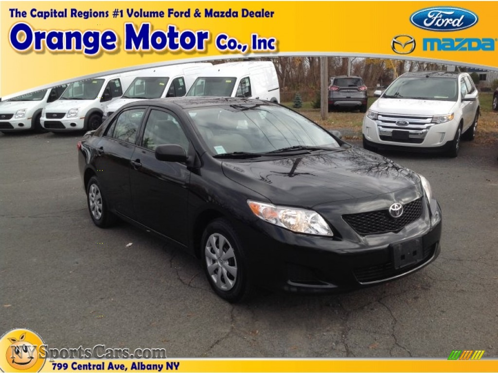 2009 toyota corolla in black sand pearl 058926 for Orange motors albany new york