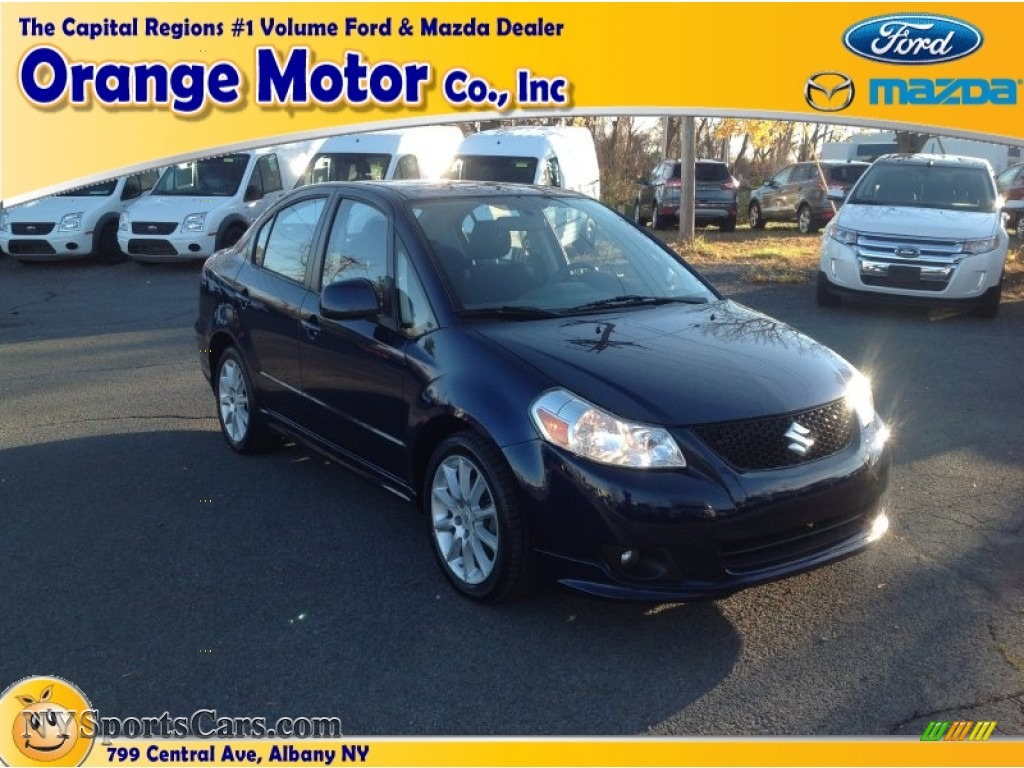 2009 suzuki sx4 technology sport sedan in deep sea blue for Orange motors albany new york