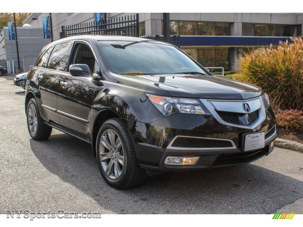 2011 acura mdx advance in crystal black pearl 503198. Black Bedroom Furniture Sets. Home Design Ideas