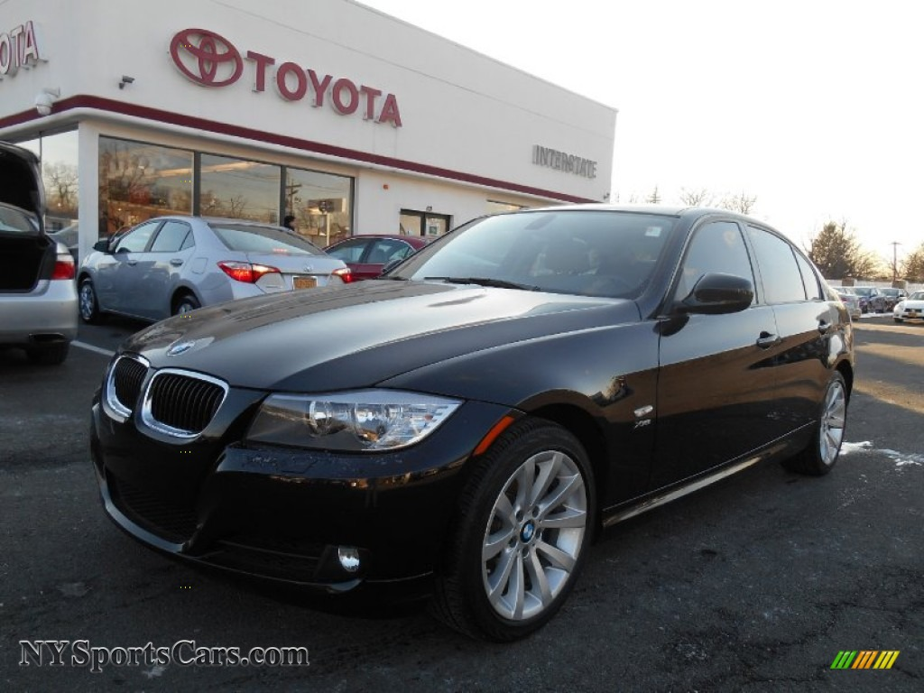 Jet black beige bmw 3 series 328i xdrive sedan