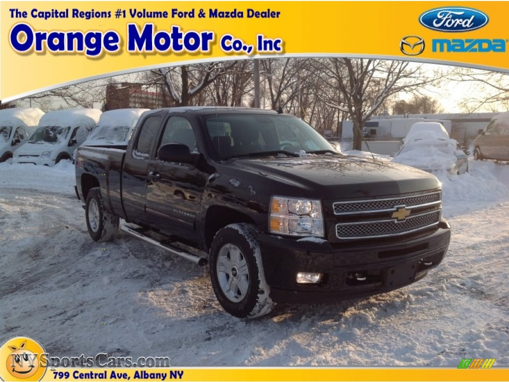 2012 chevrolet silverado 1500 lt extended cab 4x4 in black for Orange motors albany new york