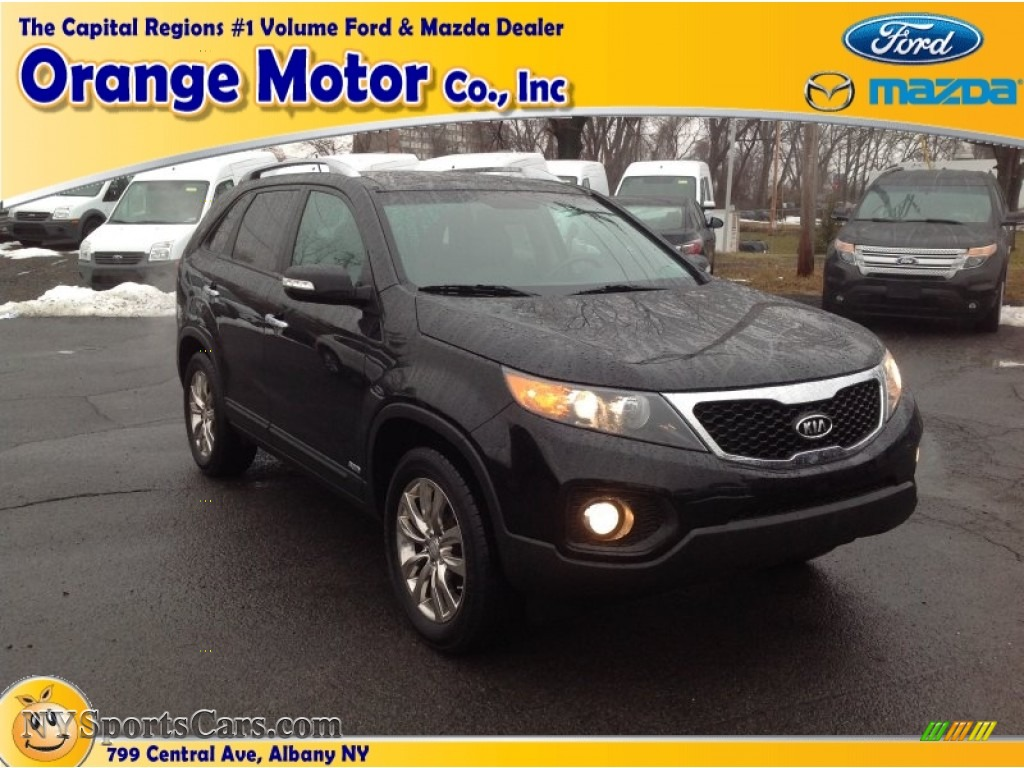 2011 kia sorento ex v6 awd in ebony black 115151 for Orange motors albany new york
