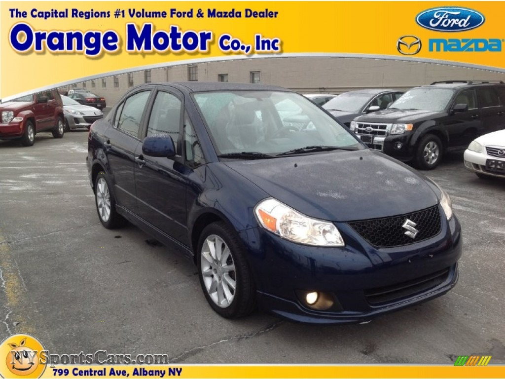 2009 suzuki sx4 touring sport sedan in deep sea blue for Orange motors albany new york