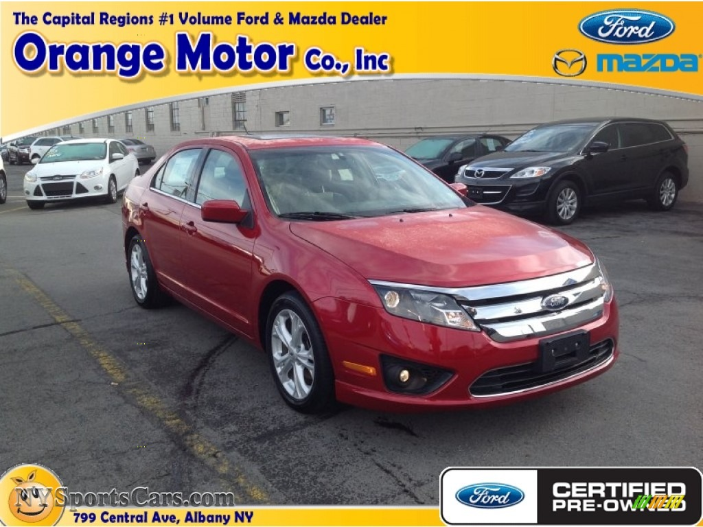 2012 Ford Fusion Se In Red Candy Metallic 166956