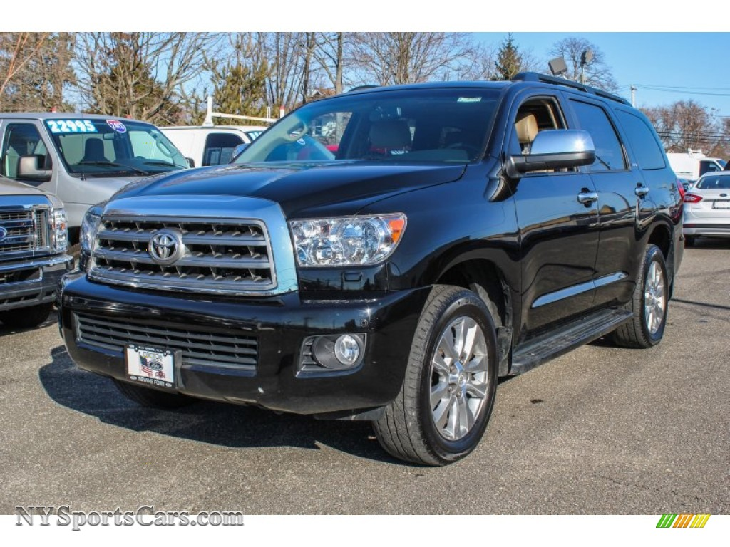 2012 toyota sequoia limited 4wd in black 062699. Black Bedroom Furniture Sets. Home Design Ideas