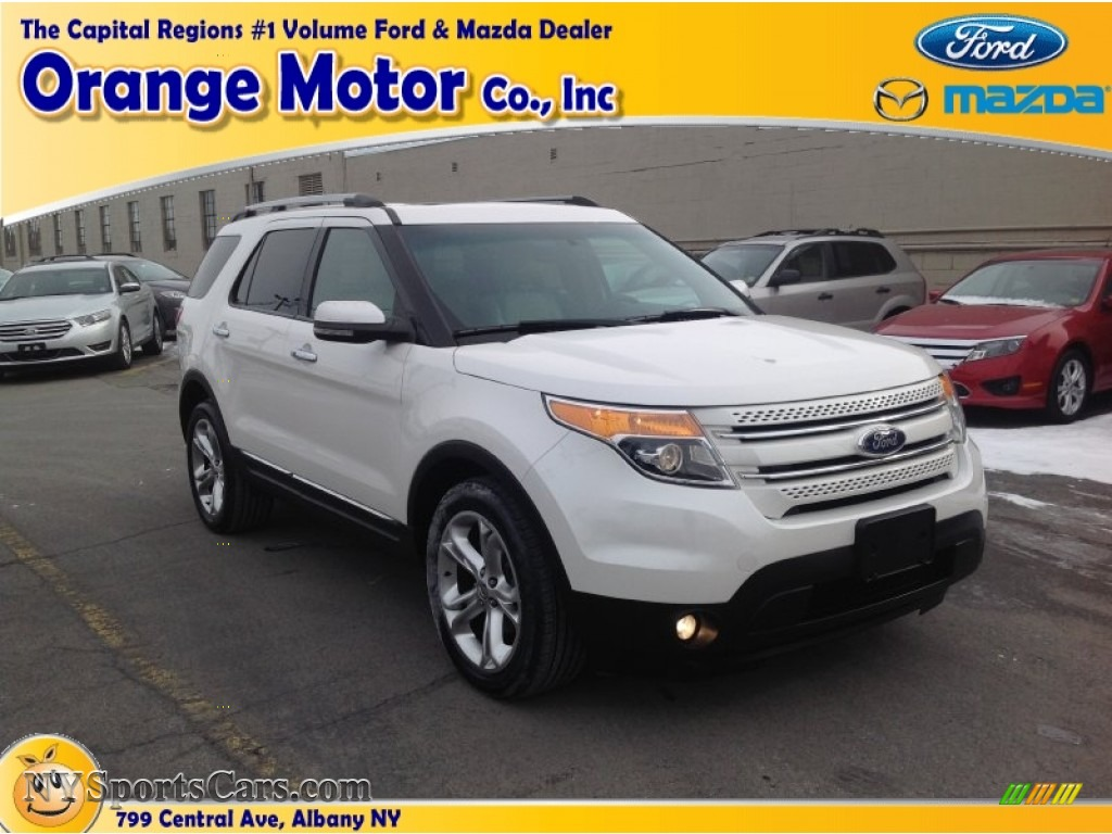 2011 ford explorer limited 4wd in white platinum tri coat for Orange motors albany new york