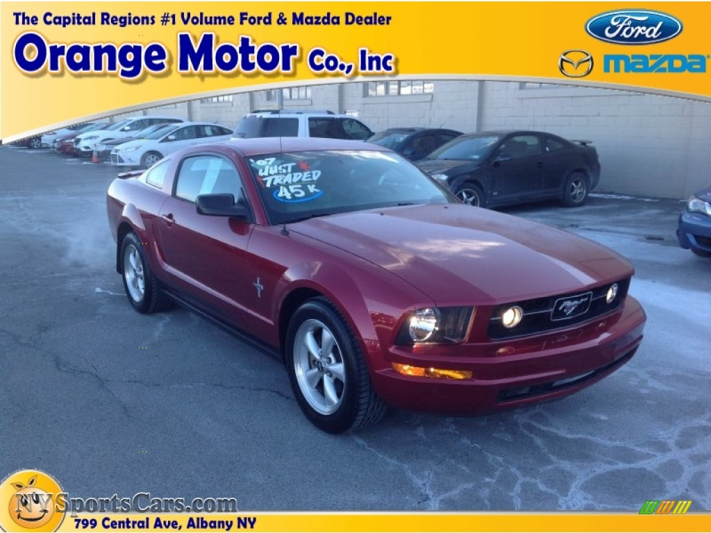 2007 ford mustang v6 deluxe coupe in torch red 234977 for Orange motors albany new york