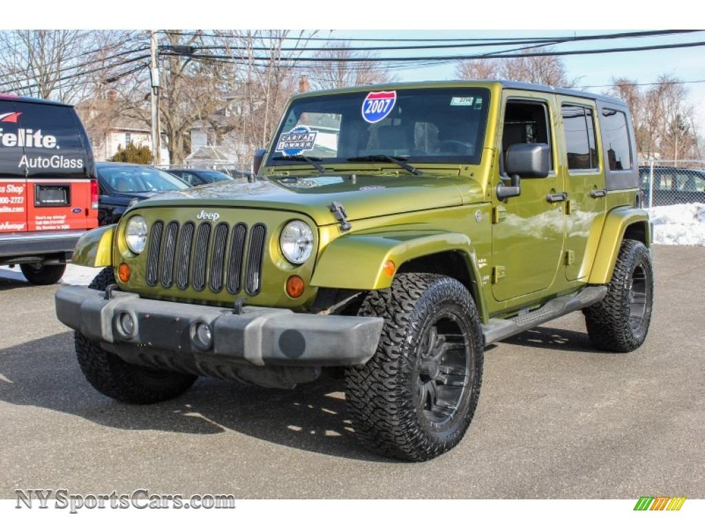2007 jeep wrangler unlimited sahara 4x4 in jeep green metallic 118271. Black Bedroom Furniture Sets. Home Design Ideas