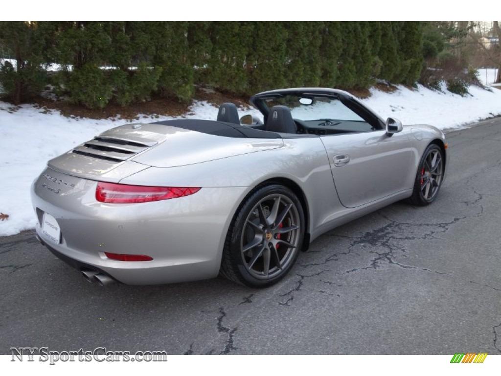 2013 porsche 911 carrera s cabriolet in platinum silver
