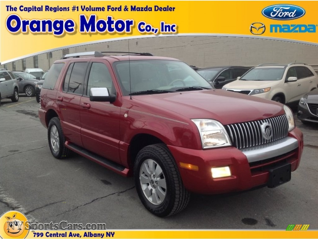 2006 mercury mountaineer premier awd in vivid red metallic for Orange motors albany new york