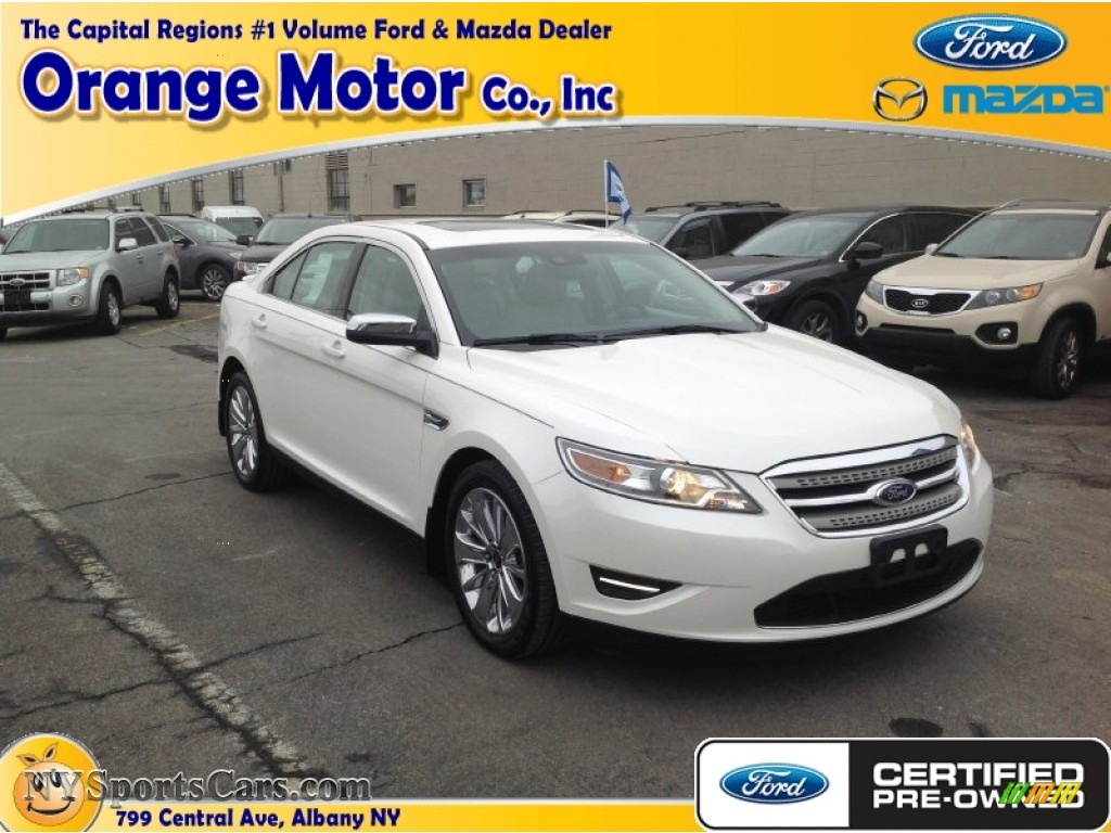 2012 Ford Taurus Limited Awd In White Suede Photo 11