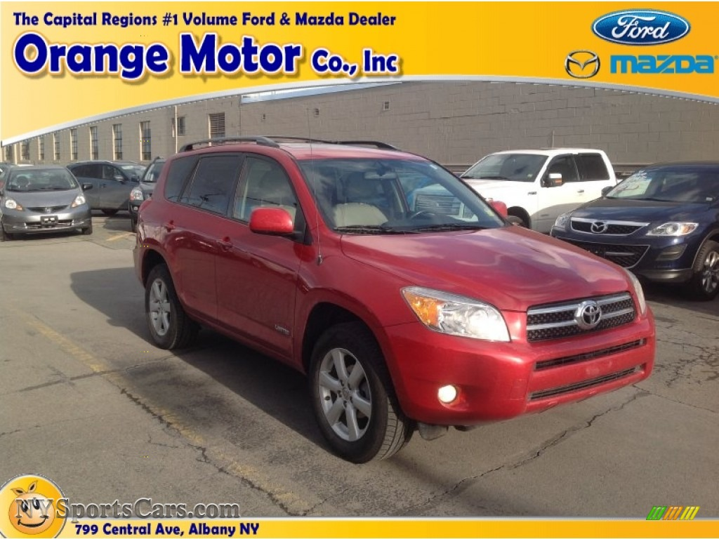 2008 toyota rav4 limited 4wd in barcelona red pearl for Orange motors albany new york