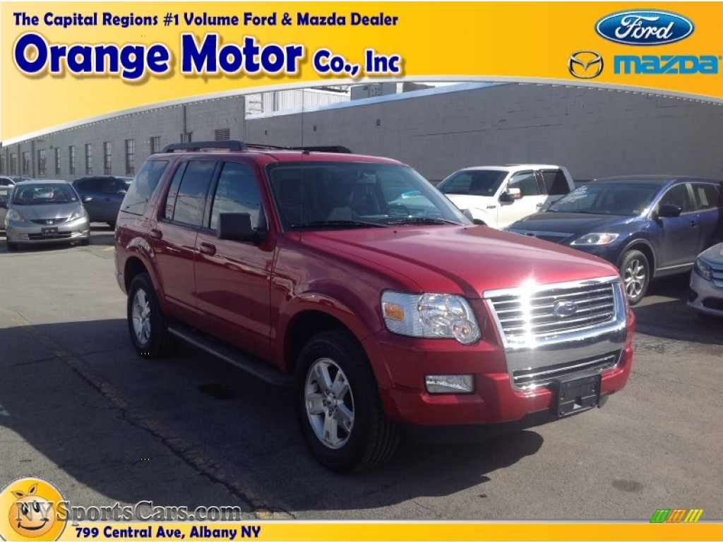2010 ford explorer xlt 4x4 in sangria red metallic photo for Orange motors albany new york