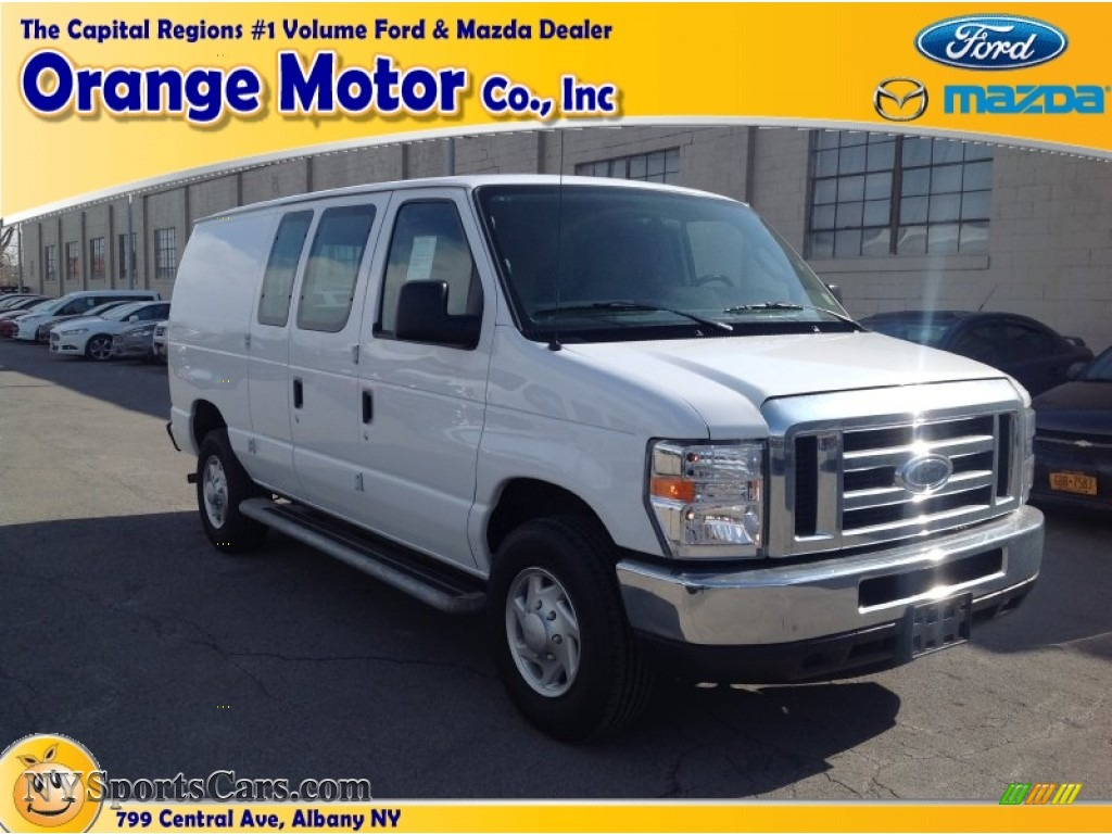 2013 ford e series van e250 cargo in oxford white a24137 for Orange motors albany new york