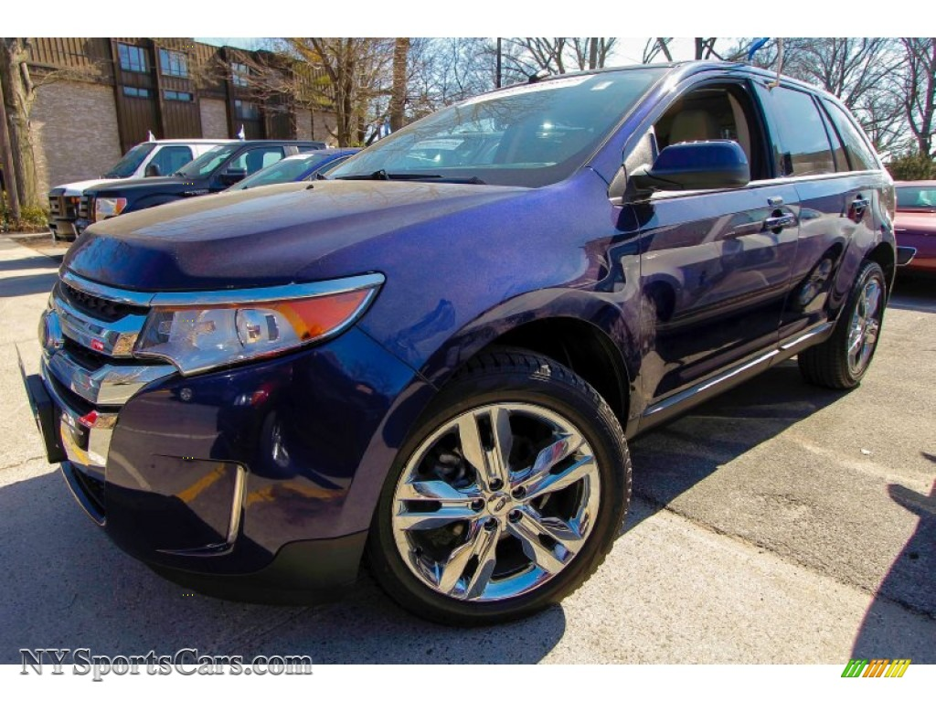 Kona Blue Metallic Medium Light Stone Ford Edge Limited Awd