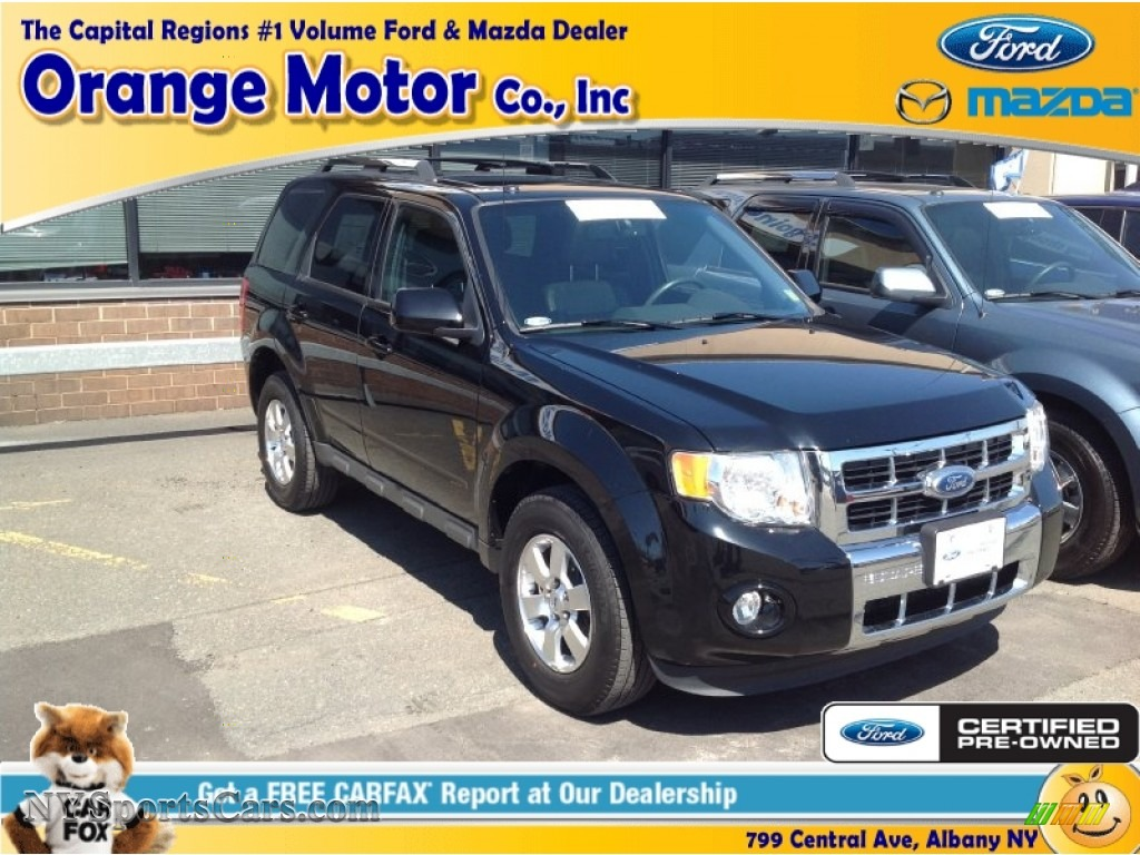 2012 ford escape limited 4wd in ebony black b25627 for Orange motors albany new york
