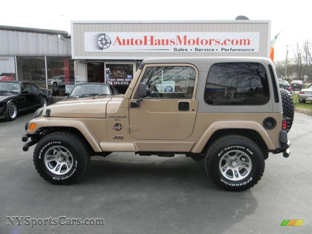 1999 jeep wrangler sahara 4x4 in desert sand pearlcoat 407706 nysportscars com cars for