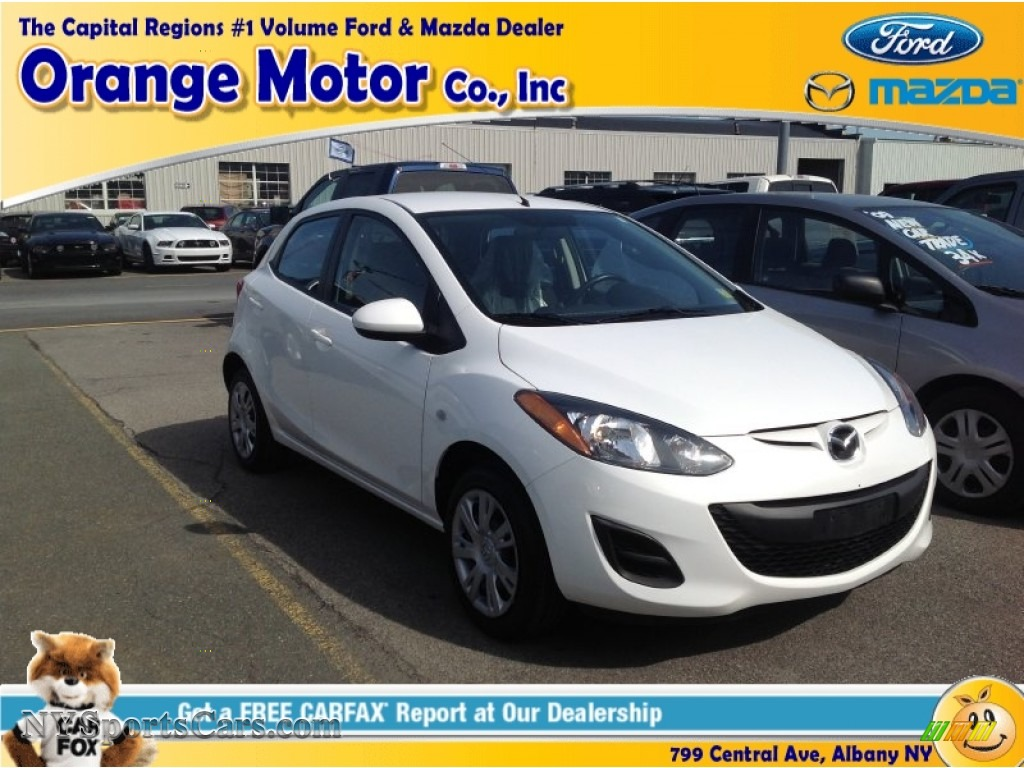 2011 mazda mazda2 sport in crystal white pearl 112080 for Orange motors albany new york