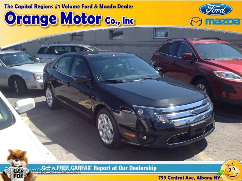 2011 ford fusion se in tuxedo black metallic 198795 for Orange motors albany new york