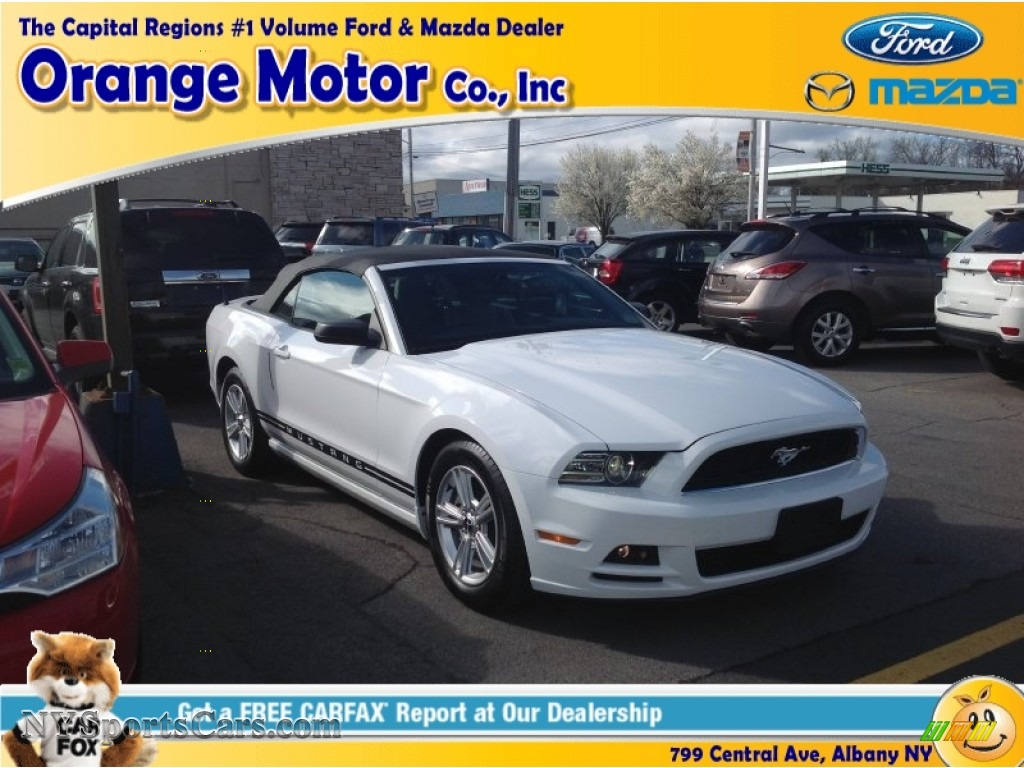 2014 ford mustang v6 convertible in oxford white 222349 for Orange motors albany new york