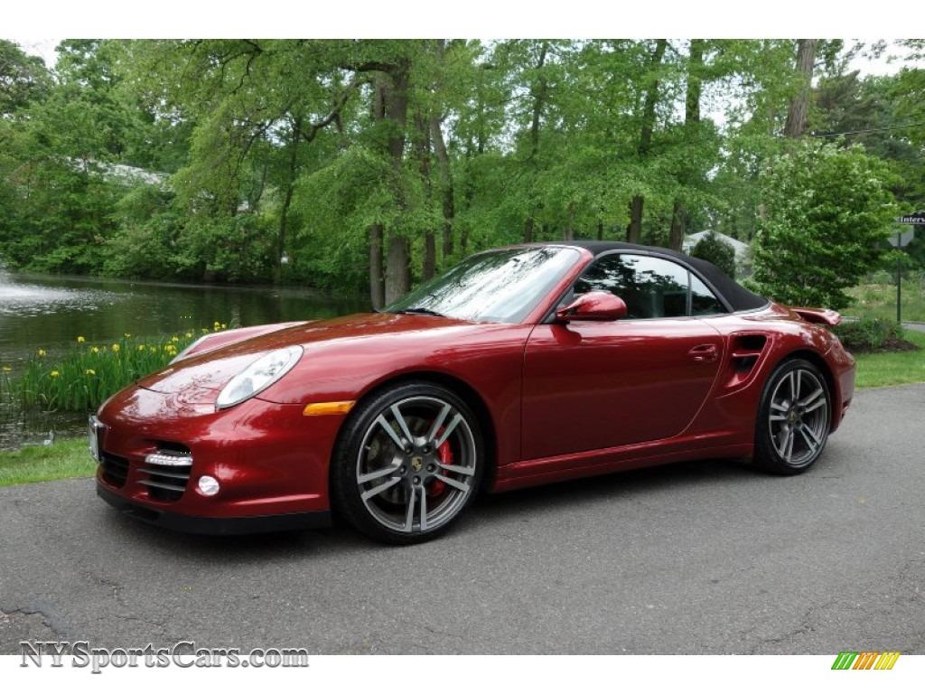 2011 Porsche 911 Turbo Cabriolet In Ruby Red Metallic