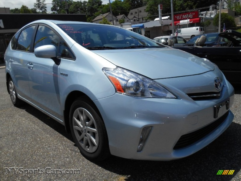 Clear Sky Blue Metallic Bisque Toyota Prius V Two Hybrid