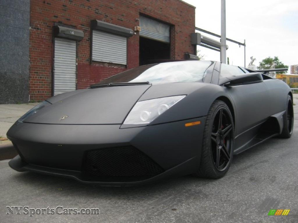 2008 lamborghini murcielago lp640 roadster in matte black photo 4 a02663. Black Bedroom Furniture Sets. Home Design Ideas