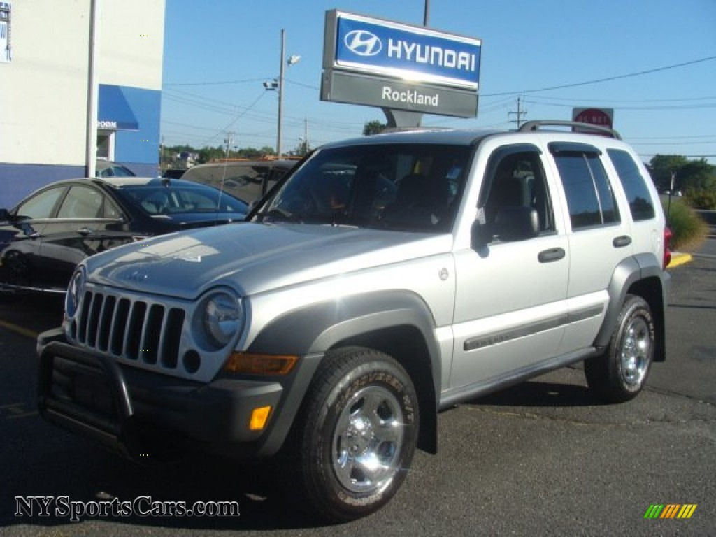 Bright Silver Metallic / Medium Slate Gray Jeep Liberty Sport 4x4