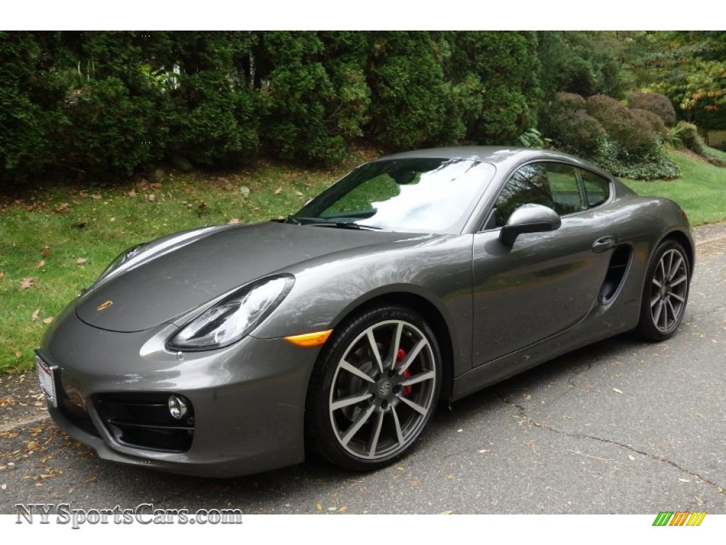 2014 porsche cayman s in agate grey metallic 191355 cars for sale in new york. Black Bedroom Furniture Sets. Home Design Ideas